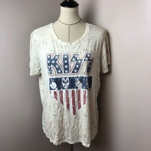 Lucky Brand KISS Graphic Short Sleeve Tee Shirt XL